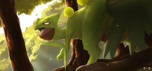 Pokemon: Sceptile by mark331