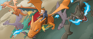 COMMISSION: Charizards by mark331