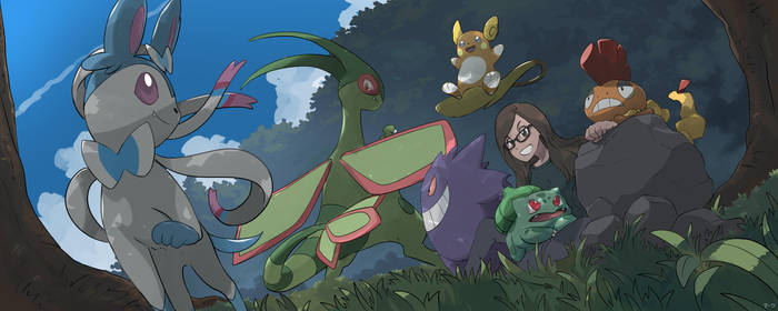 Female Trainer with Team by mark331