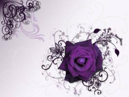 Purple Dreamtime Rose Smaller by silverperfume