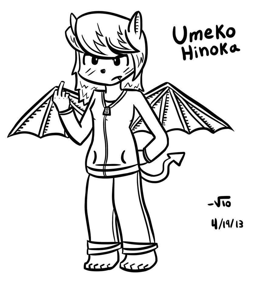 Umeko Hinoka (Original Character) (REDRAW!!) by TheAliami
