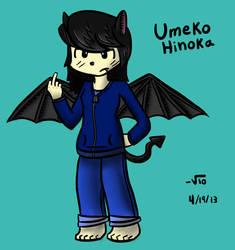 Umeko Hinoka (Original Character) (Redrew+Color) by TheAliami