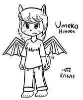 Umeko Hinoka without her jacket. by TheAliami