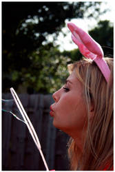 Pink Bunny Lady by WithinIllusion