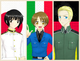 Hetalia Axis Powers by red-jello04
