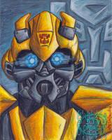 Bumblebee Painting by ninjatron