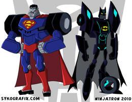 Superman Batman Transformers by ninjatron