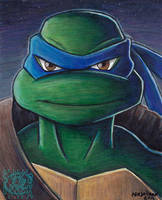TMNT Leonardo Painting by ninjatron