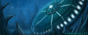 Sunken Saucer by ninjatron