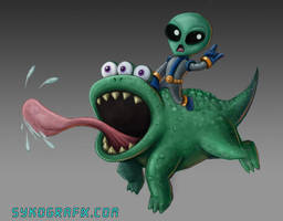 Alien Concept Art by ninjatron