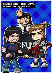 Crash and The Boys by ninjatron