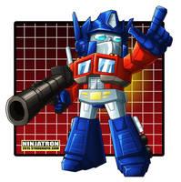 SD Optimus Prime by ninjatron