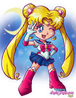 SD Sailor Moon by ninjatron