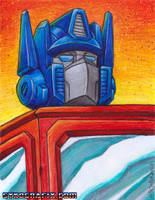Optimus Prime Painting by ninjatron