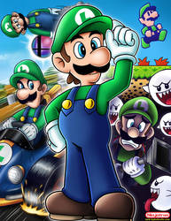 Spotlight on Luigi by ninjatron