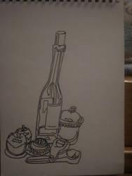 Art lesson in pen by ForeverAstraea