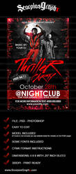 Thriller Night Flyer Template by ScorpiosGraphx