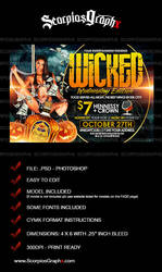Wicked Wednesdays Flyer Template by ScorpiosGraphx