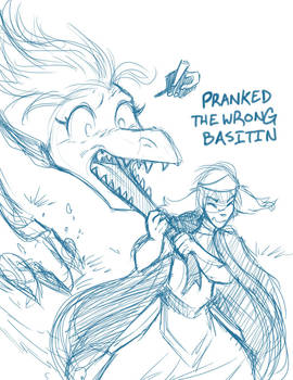 Sketchithon 06 - Pranked the Wrong Basitin by Twokinds