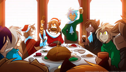 Christmas Gathering by Twokinds