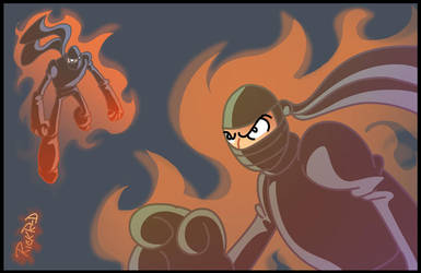 Some fiery ninjas by rickrd
