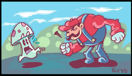 Super mean Mario Bros. by rickrd