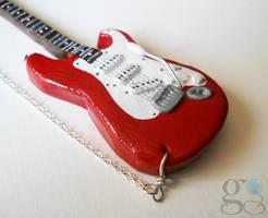 Polymer clay guitar by ALINAFMdotRO