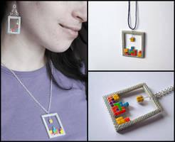 Tetris pendant by ALINAFMdotRO