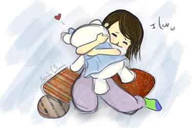 Sweet embrace by Hika-chanx3