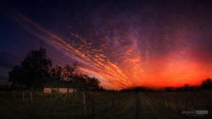 The dark sunset by NorbertKocsis