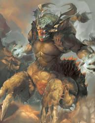 Dyra, The Galvan Harbinger by ChunLo