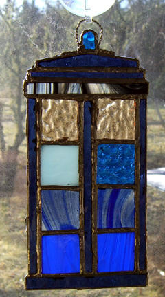 Stained Glass Tardis by EHyde