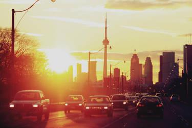 Sunset in Toronto by weruninhalflight