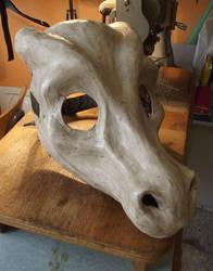 Skull Dragon Mask Fursuit by AtalontheDeer