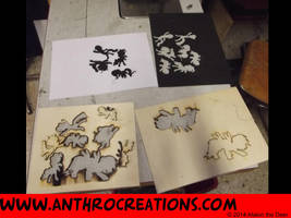 Our first Try Laserrcut - Wood and Foam by AtalontheDeer