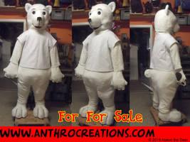 Toony Icebear Full Pot Suit Corset Fursuit MAscot by AtalontheDeer