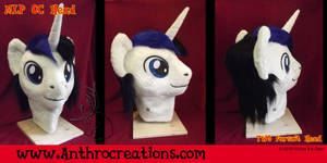 MLP OC Head Male  White/Black/Blue by AtalontheDeer