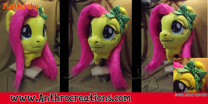 Fursuit head cosplay head Fluttershy by AtalontheDeer
