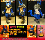 Lucario Pokemon Fursuit by AtalontheDeer