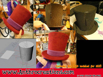 Fursuit MLP Cylinder Hat by AtalontheDeer