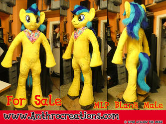 MLP Fursuit Male Yellow with blue For Sale by AtalontheDeer