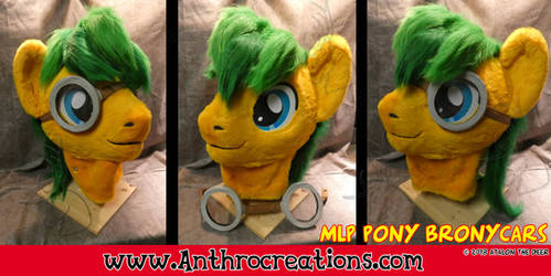 MLP Fursuit Head OC Bronycars by AtalontheDeer