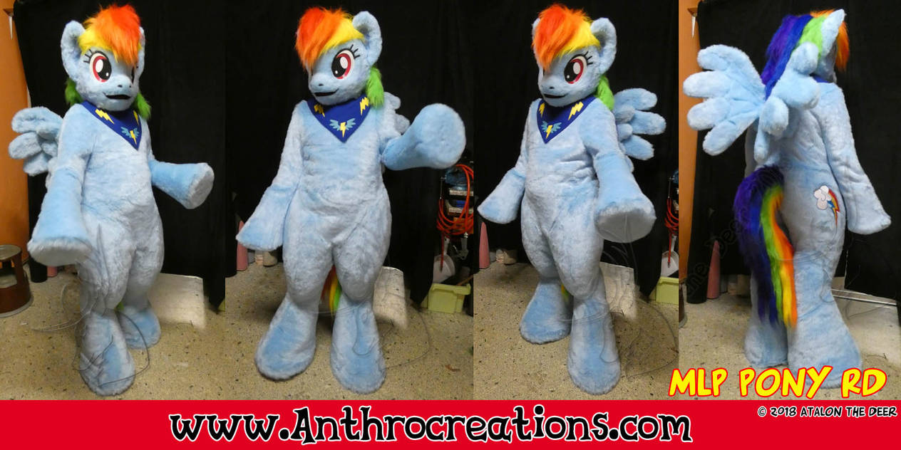 Rainbow Dash Cosplay Fursuit Pegasus Rainbow Pony by AtalontheDeer