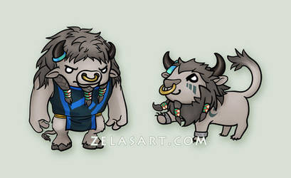 Chibi Tauren WoW Commissions by zelas