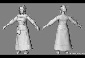 high res model of a mage by zelas