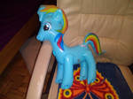 My Inflatable My Little Pony Rainbow Dash Toy 26 by PoKeMoNosterfanZG