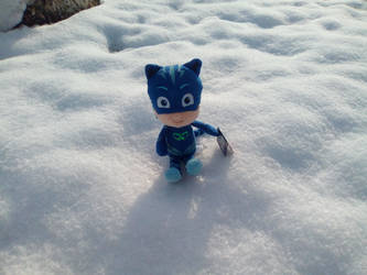My Catboy Plush in the Snow by PoKeMoNosterfanZG