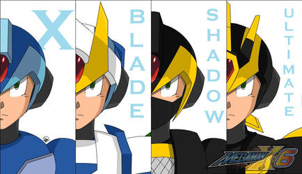 Megaman X6 (Armors) by Madkast