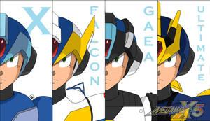 Megaman X5 (armors) by Madkast