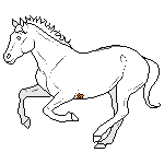 cantering pixel horse stock 01 by shadowsthyme